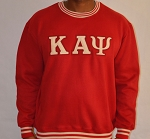 Kappa Alpha Psi Krimson Crewneck with Embroidered letters