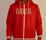 Kappa Alpha Psi Zippered Hoodie with Founding Year