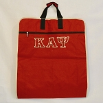 Kappa Alpha Psi Krimson Garment Bag with Greek Letters