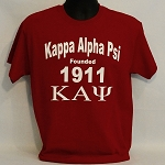 Kappa Tee with Name - Founding Year and  Letters
