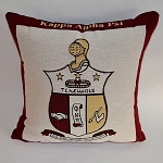 Kappa Tapestry Pillow with Crest
