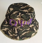 Omega Psi Phi  Embroidered Camo Bucket Hat