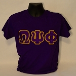 Omega Psi Phi Embroidered Greek Letter Tee