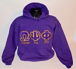 Omega Psi Phi  Embroidered Hoodie with Greek Letters & More