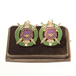 Omega Psi Phi  Shield Cuff Links