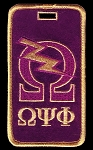 Omega Psi Phi Embroidered Luggage Tag