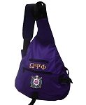 Omega Psi Phi  Sling Bag with embroidery