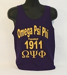 Omega Psi Phi  Tank with Fraternity Name - Letters and Year