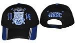 Phi Beta Sigma Embroidered Baseball Cap Black with Blue Accents