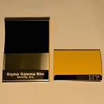 Sigma Gamma Rho Laser Engraved Business Card Holder
