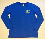 SGRho Embroidered Long Sleeve Tee -Blue