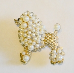 SGRho Stone studded Poodle Pin