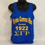 Sigma Gamma Rho Tank Tee with Name - Letters and year