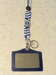Zeta Woven Lanyard with Badge Holder