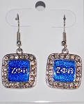Zeta Drop Earrings with Greek Letters
