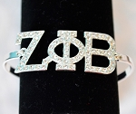 Zeta Austrian Crystal Bracelet with Greek Letters