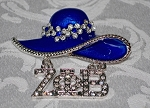 Zeta Fashion Hat Pin with Greek Letters