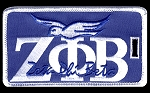 Zeta Embroidered Luggage Tag