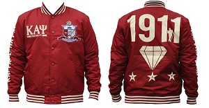 Kappa Alpha Psi Lightweight Jacket with Striped Bands
