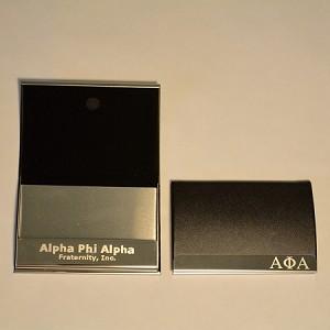 Alpha phi alpha laser engraved business card holder colourmoves