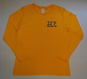 SGRho Embroidered Long Sleeve Tee