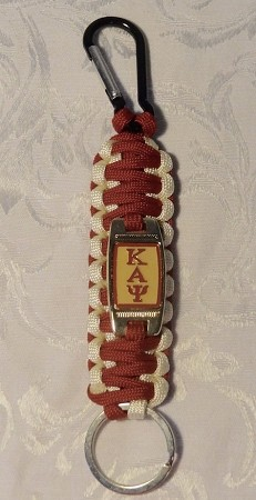 Kappa Woven Key Chain with Carabiner