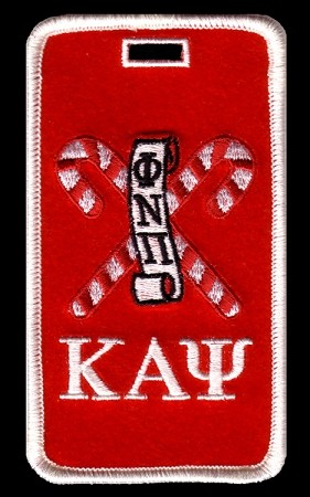 Kappa Alpha Psi Embroidered Luggage Tag