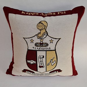 Kappa Alpha Psi Tapestry Pillow with Crest