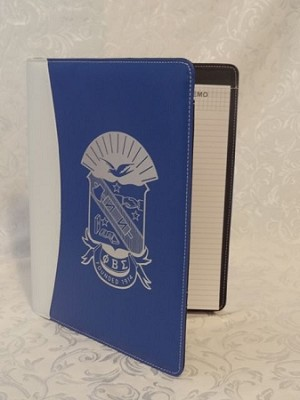 Phi Beta Sigma Padfolio with Notepad and more