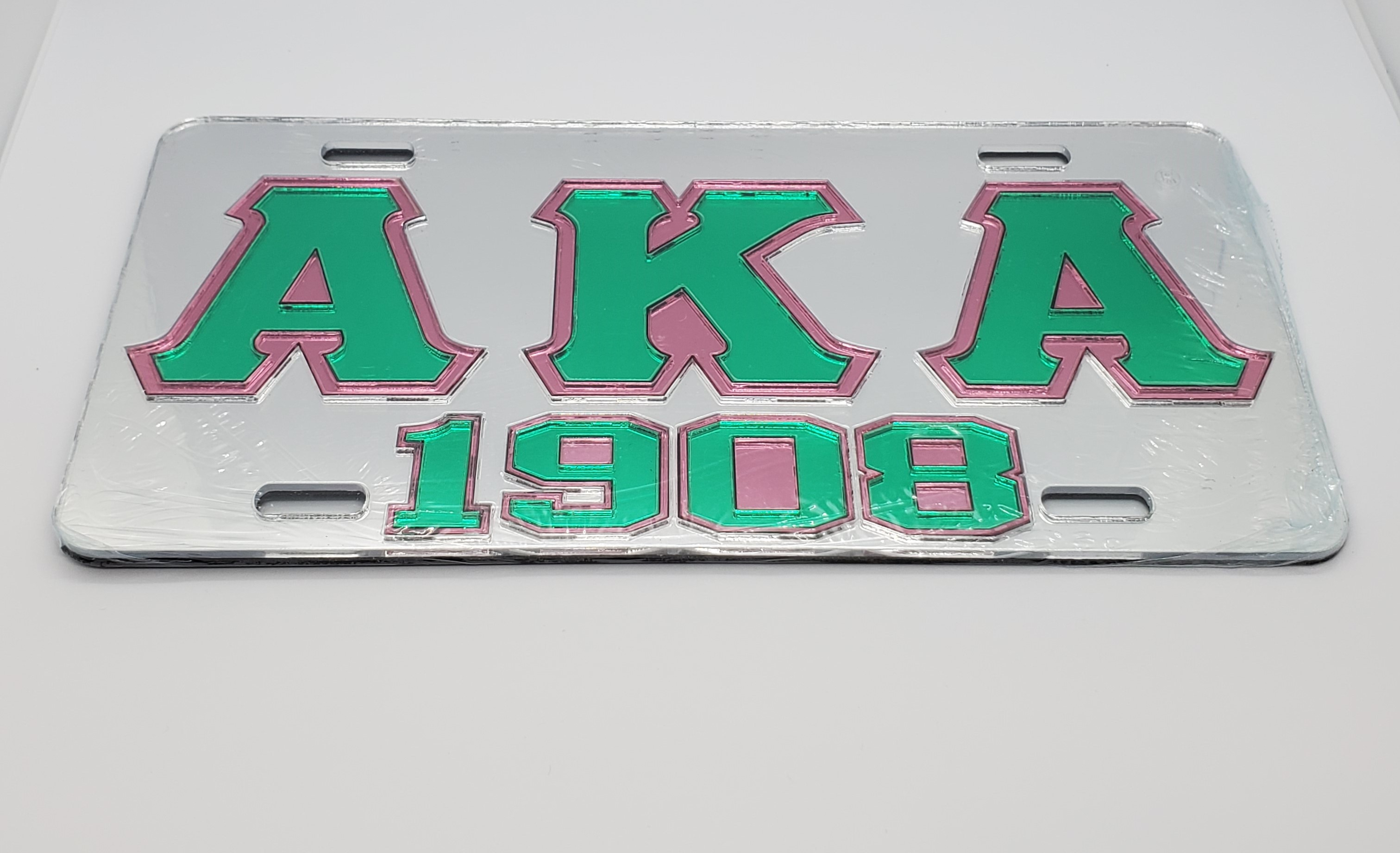 Alpha Kappa Alpha Mirrored License Plate