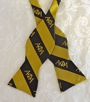 Alpha Phi Alpha Gold and Black Bow Tie