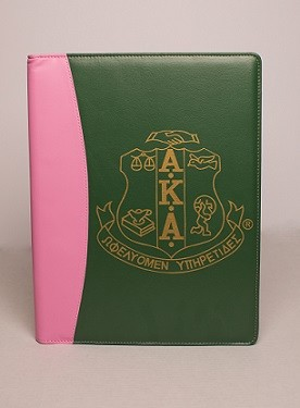 Alpha Kappa Alpha Padfolio with note pad and more