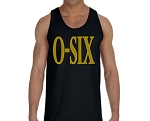 Alpha Phi Alpha Black and Gold O-Six Tank