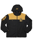 Alpha Phi Alpha Embroidered Windbreaker with Hood
