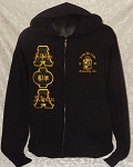 Alpha Phi Alpha Embroidered Zippered Hoodie