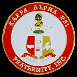 Kappa Alpha Psi Round Auto Decal