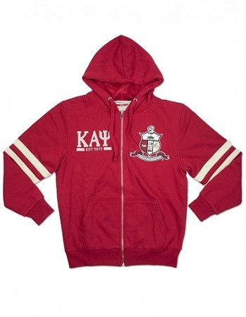 Kappa Alpha Psi Zipper Hoodie with Crest and More