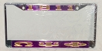 Omega Psi Phi  License Year and Letter Frame