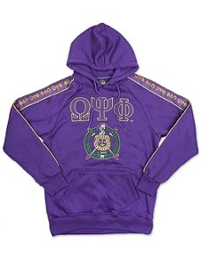 Omega Psi Phi Hoodie with Embroidery on Sleeve