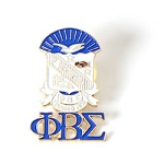 Phi Beta Sigma Blue and White Pin