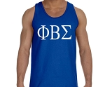 PBS Tank with Fraternity Greek letters