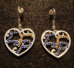 Sigma Gamma Rho Filigree Heart Earrings