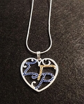 Sigma Gamma Rho Filigree Heart Necklace