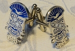 Phi Beta Sigma Shield Cuff Links - pair
