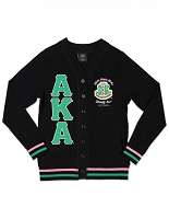 Alpha Kappa Alpha Lightweight Cardigan Black