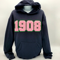 Alpha Kappa Alpha  Hoodie  with Chenille Year