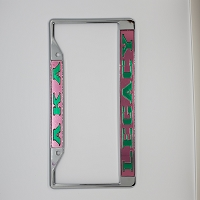 Alpha Kappa Alpha Legacy Mirrored License Frame