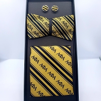 Alpha Phi Alpha 100% Silk Bow Tie/Cuff Links Set
