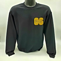 Alpha Phi Alpha Black Crew Neck with Chenille 06