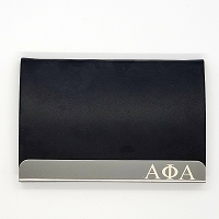 Alpha Phi Alpha Laser Engraved Business Card Holder
